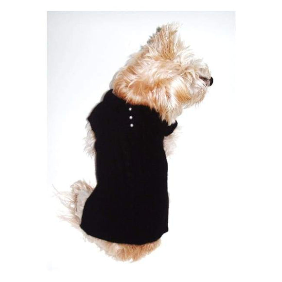 Warm Dog Sweaters - Luxury Preppy Angora Blend Black Medium Warm Dog Sweaters