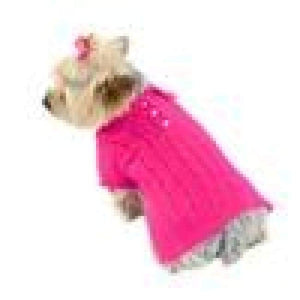 Warm Dog Sweaters - Luxury Preppy Angora Blend  Fuchsia Extra Extra Small Warm Dog Sweater