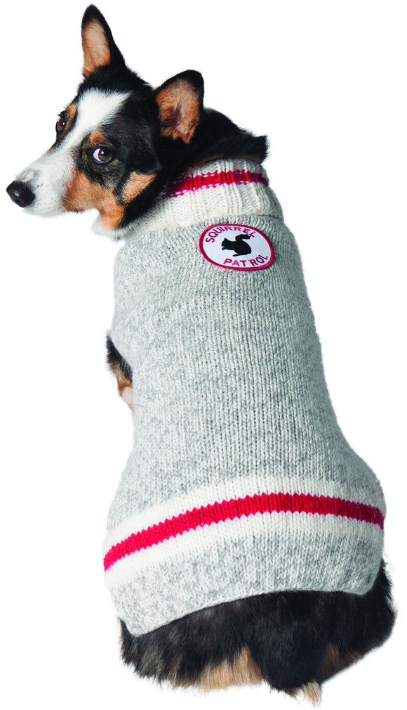 Warm Dog Sweaters - Squirrel Patrol Patrol Wool Dog Sweater