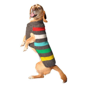 Warm Dog Sweaters - Warm Dog Sweater Charcoal Stripe Sweater