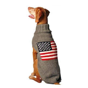 Warm Dog Sweaters - Warmest Dog Sweater American Flag