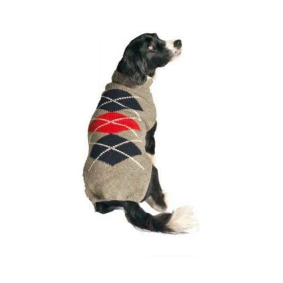 Warm Dog Sweaters - Warmest Dog Sweater Gray Argyle