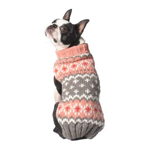 Warm Dog Sweaters - Warmest Dog Sweater Peach Fairisle Dog Sweater