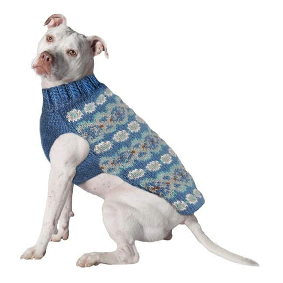 Warm Dog Sweaters - Warmest Dog Sweater Teal Alpaca Fairisle