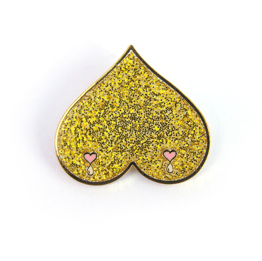 Gold Boobs Enamel Pin