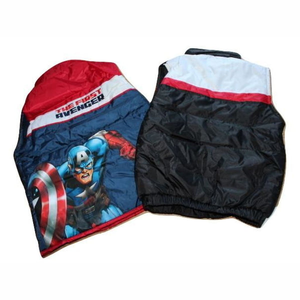 Boys Official Star Wars/Captain America Padded Bodywarmer Gilet, Body Warmer, Marvel/Disney - karacentral