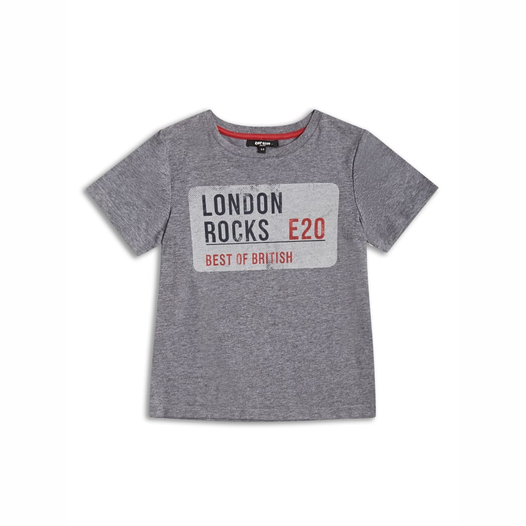 Boys Retro 'London Rocks' Style T-Shirt (2-14yrs), T-Shirts & Tops, Riot Club London - karacentral