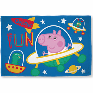 George Pig 'Galactic Fun' Fleece Blanket, Fleece Blanket, Peppa Pig - karacentral