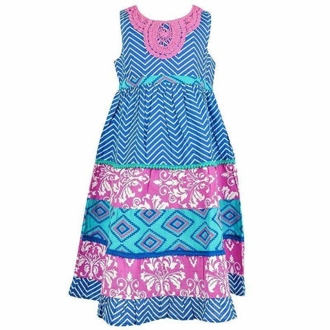 Girls Contrast Print Dresses (2-7Yrs) 2-3 Years