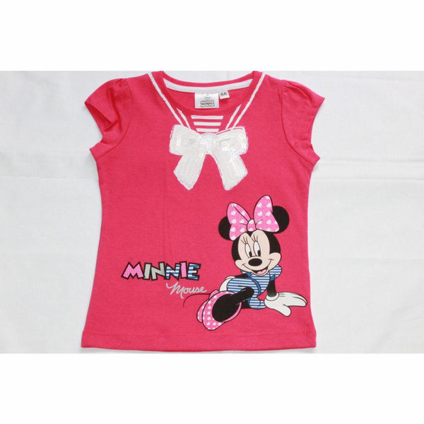 Girls Disney Minnie Mouse T-Shirt (2-8Yrs) 3-4 Years / Pink T-Shirts & Tops
