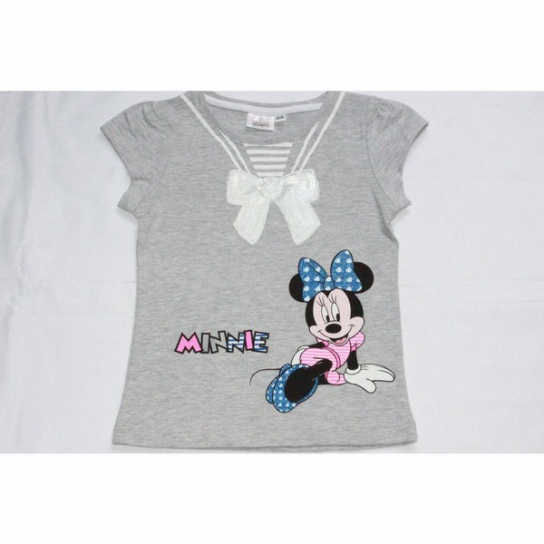 Girls Disney Minnie Mouse T-Shirt (2-8Yrs) 2-3 Years / Grey T-Shirts & Tops