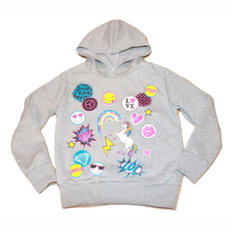 Girls Emoji Long Sleeve Cropped Hoodie Hoodies