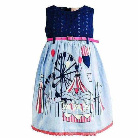 Girls Fairground Party Dresses (1-7yrs), Dresses, Chloe Louise - karacentral