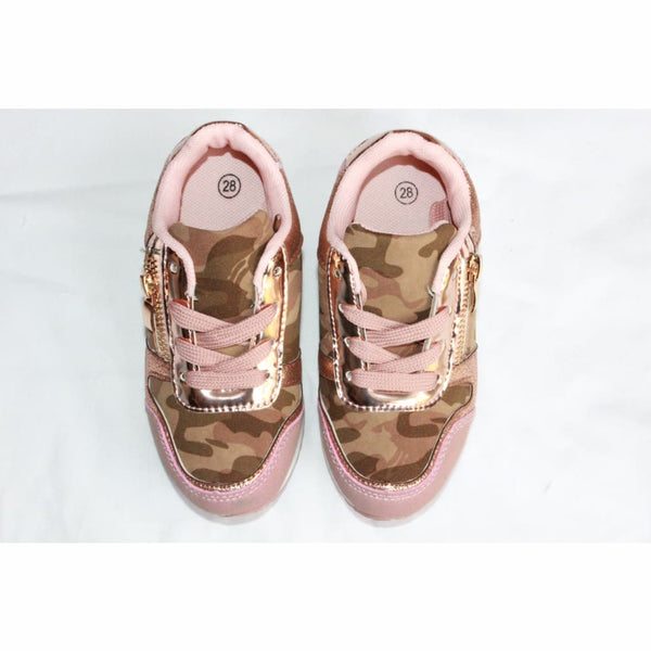 Girls Pink Camo Trainers, Trainers, Unbranded - karacentral