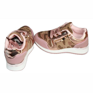 Girls Pink Camo Trainers Trainers