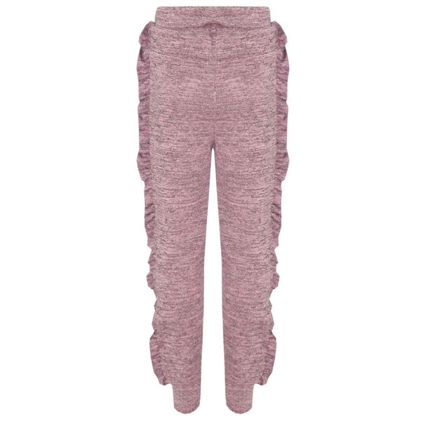 Girls Ruffle Lounge Wear Tracksuit, Loungewear/ Tracksuit, Minx London - karacentral