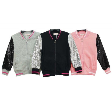 Girls Sequin Varsity Jacket, Varsity Jacket, Magic Girl - karacentral