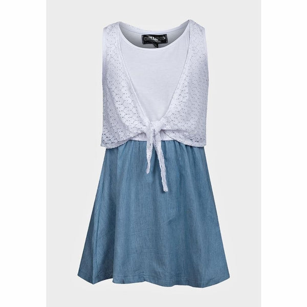 Girls Summer Denim Chambray Dress, Summer Denim Dress, Chillipop - karacentral