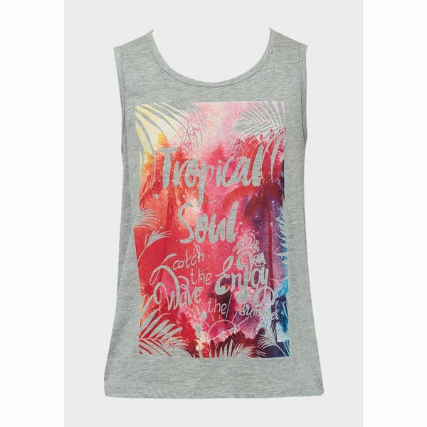 Girls Summer Tropical Vibe Vest Top, Vest Top, Minoti - karacentral