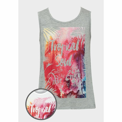 Girls Summer Tropical Vibe Vest Top