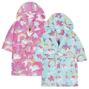 Girls Unicorn Dressing Gown/ Robe, Dressing Gown, MiniKidz - karacentral
