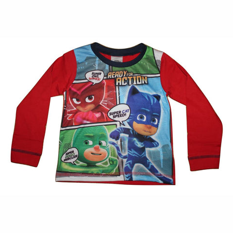 Kids Official PJ Masks Long Sleeve Pyjama's, PJ Masks Pyjamas, Disney - karacentral