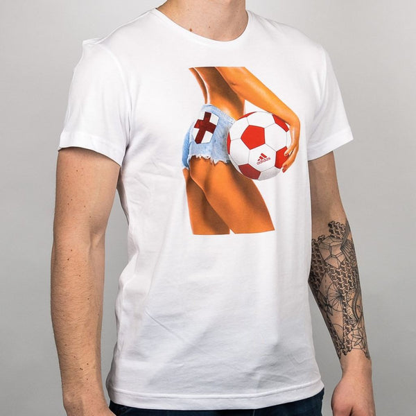 Mens Adidas England Football Fan T-Shirt T-Shirts & Tops
