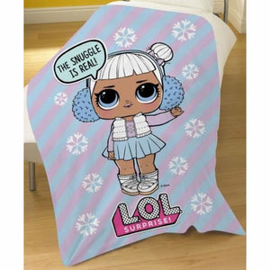 Official L.O.L Doll Surprise Snow Flake Blanket, Blanket/ Throw, L.O.L Surprise - karacentral