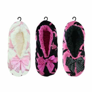 Women's Playboy Sherpa Fleece Gripper Slippers, Slippers, Playboy - karacentral