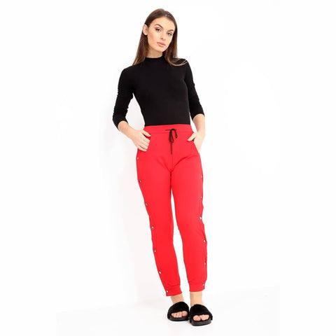 Women's Popper Trousers/Bottoms, Trousers/Bottoms, Vague - karacentral
