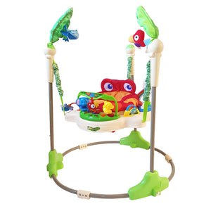 Baby Jumper with 360° Rotating Seat - Jungle Green