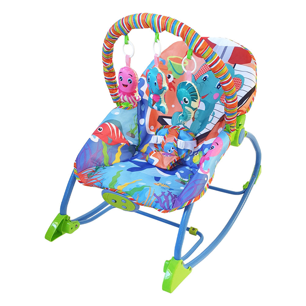 Baby Infant-to-Toddler Rocker & Bouncer - Beach Ellie