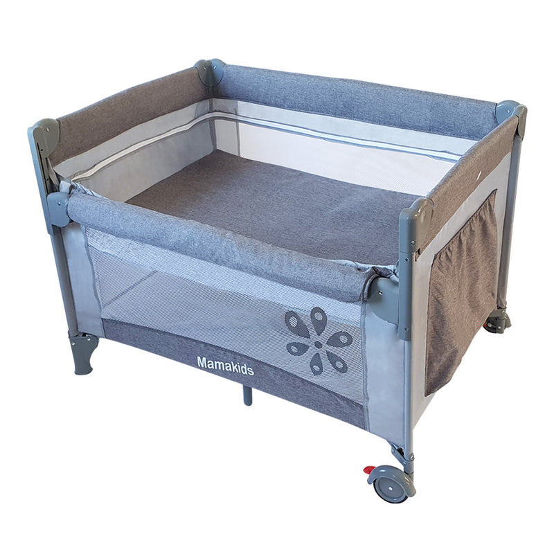 Dream-by-Me Camp Cot & Co-Sleeper - Grey Melange