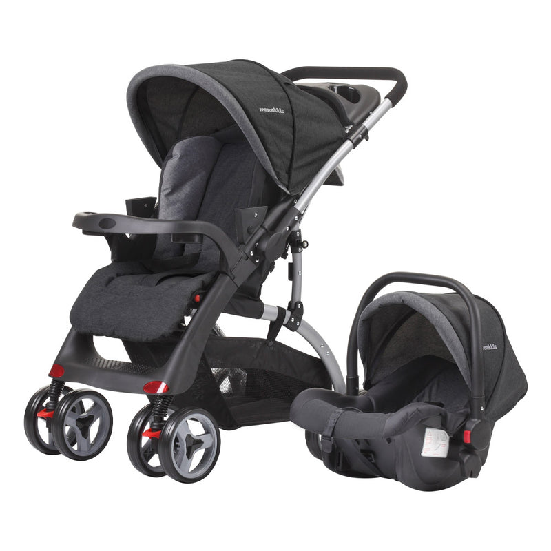 Luna Travel System - Black & Grey
