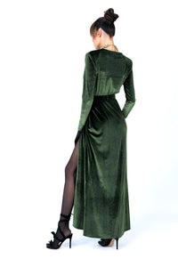 Royal Green Dress