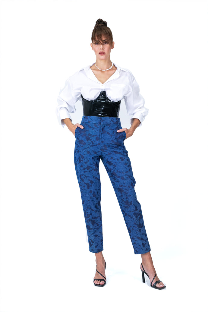Cropped Denim Regular Pants