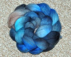 "Hand painted Merino Top (100grams) ""Rumble above Skye"""