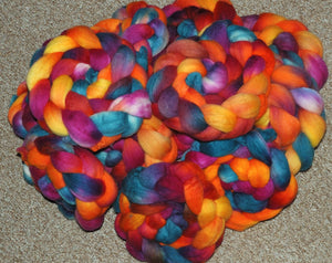 "Hand painted Merino Top (100grams) ""Sun Flower Cottage"""
