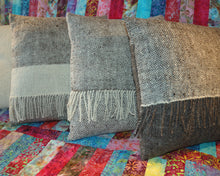 Hand woven cushions / Natural wool