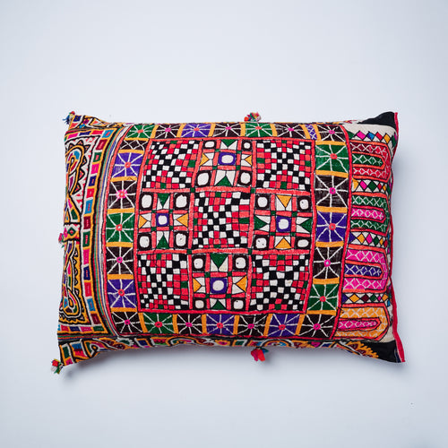 This cushion is full of personality, looking equally good on all sides.  Highly exotic and flamboyant, Riya is no wall flower and will be the centre of attention in any room particularly after her gentle revamp in the UK.