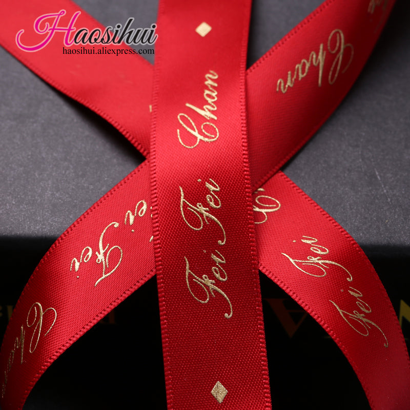 375mm Wholesale Personalized Wedding Ribbon For Favors And