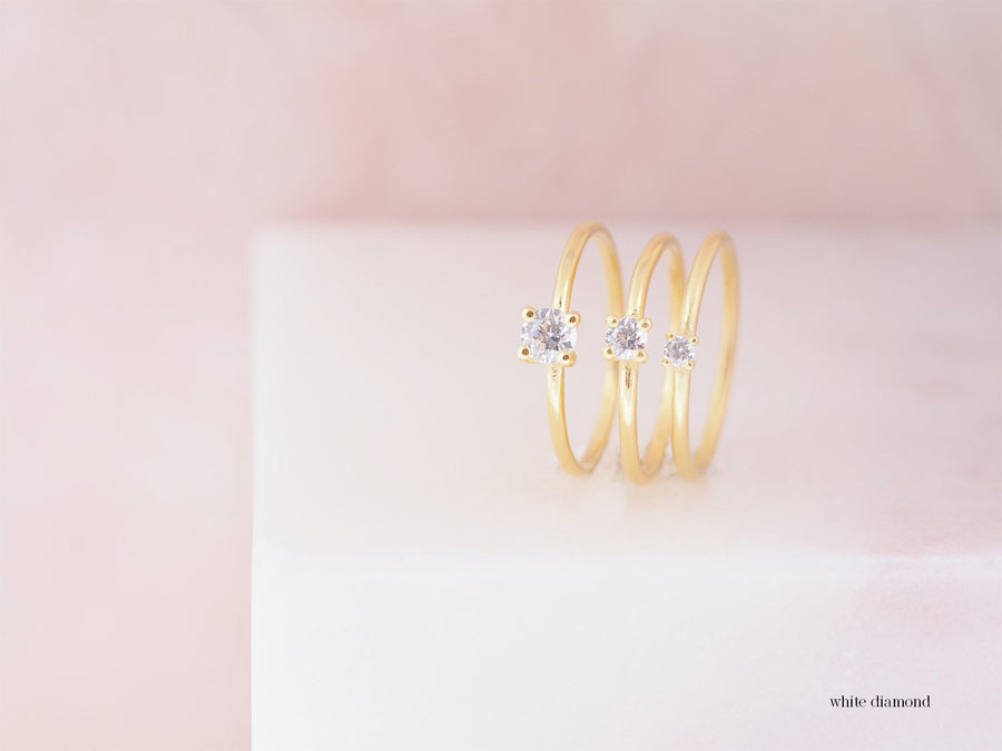 Solitair Lux Medium ring