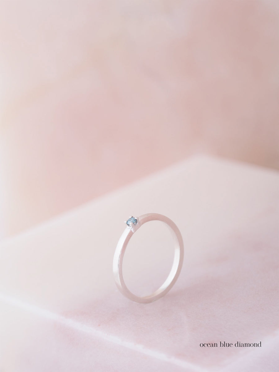 Solitair Square Lux Small ring