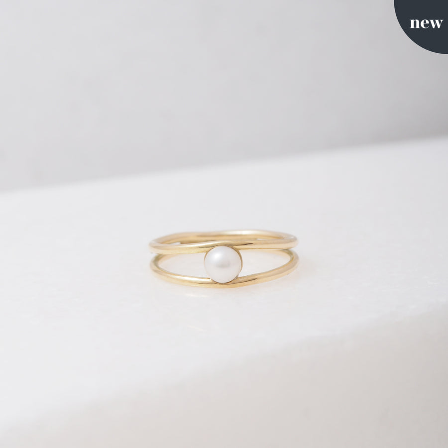 Swell Double Pearl ring (high-end collectie)