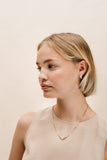 Yugen moment earrings with diamanté finishing