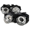 94-97 ACURA INTEGRA HEADLIGHT 2/4 DOORS DUAL HALO PROJECTOR HEADLIGHTS CHROME