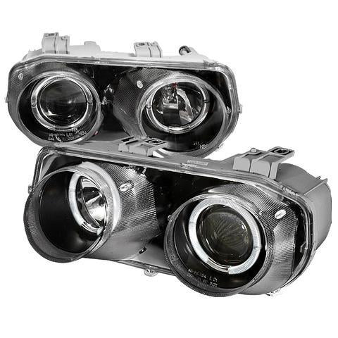 94-97 ACURA INTEGRA HEADLIGHT HALO PROJECTOR HEADLIGHTS BLACK