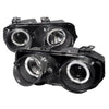 94-97 ACURA INTEGRA HEADLIGHT 2/4 DOORS DUAL HALO PROJECTOR BLACK