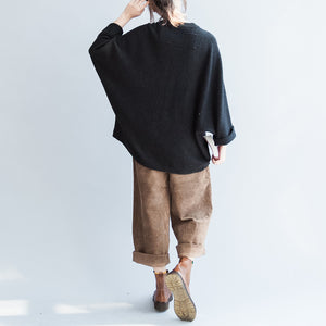 2017 autumn cotton sweaters oversize o neck batwing sleevele knitted sweaters