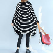 2021 black casual cozy sweater dresses low high plus size o neck knit pullover dress